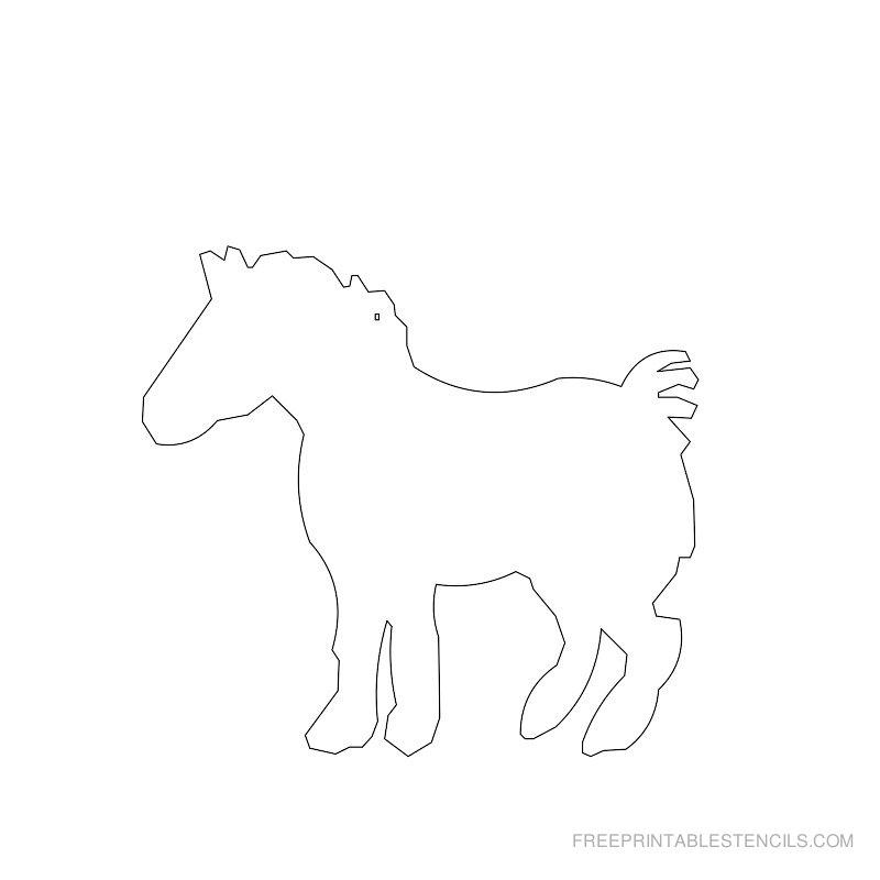 Free Printable Horse Stencil F