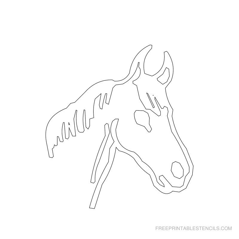 Free Printable Horse Stencil G