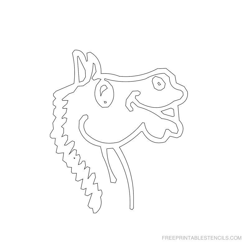 Free Printable Horse Stencil H