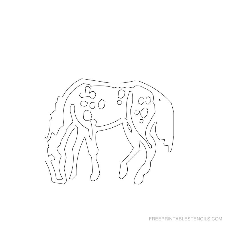 Free Printable Horse Stencil I