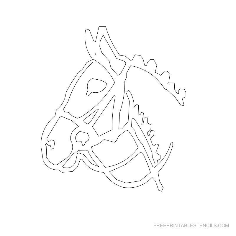 Free Printable Horse Stencil K