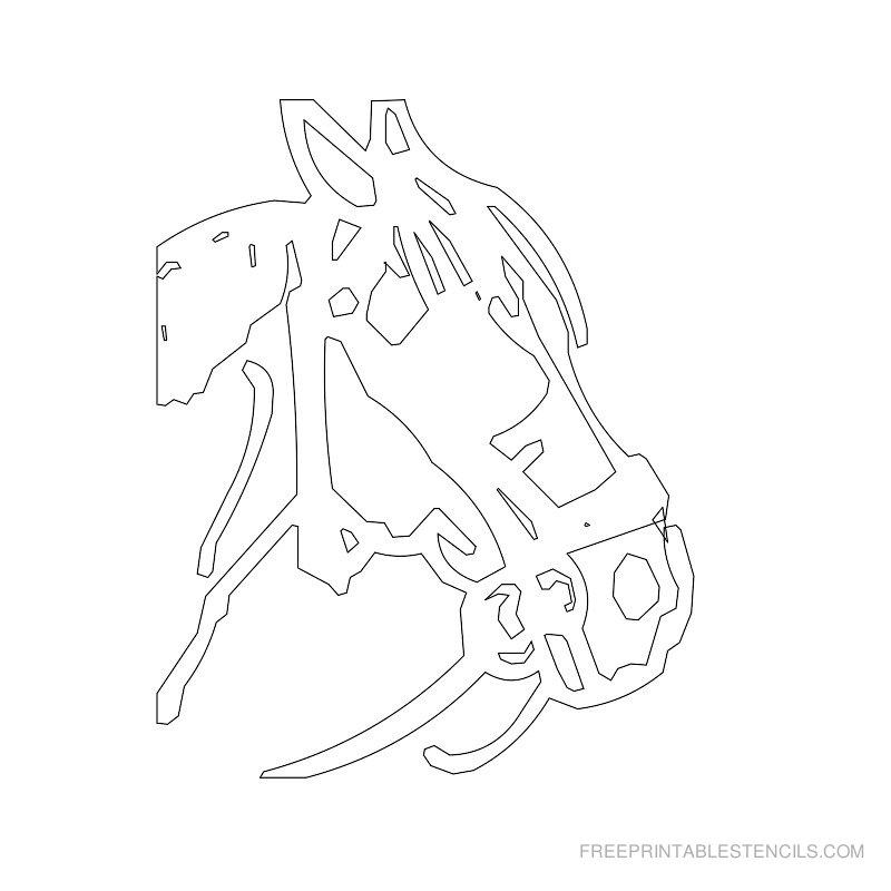 Free Printable Horse Stencil M