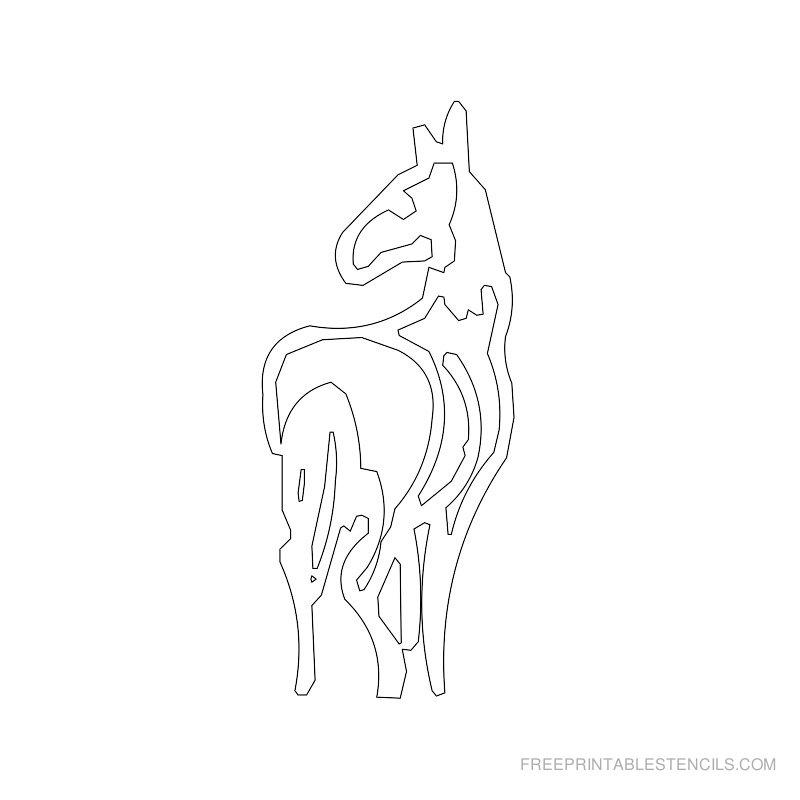 Free Printable Horse Stencil N