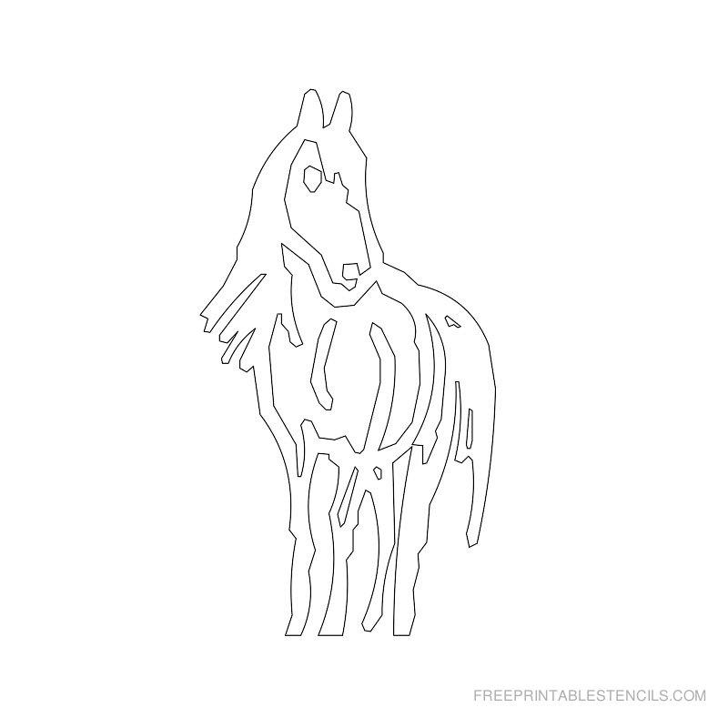 Free Printable Horse Stencil O
