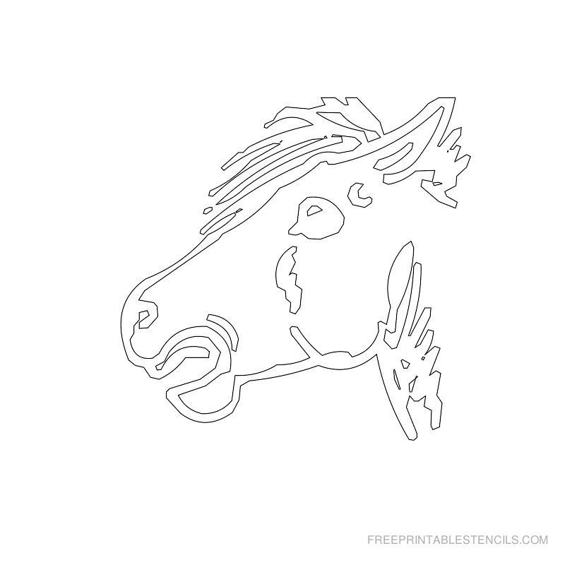 Free Printable Horse Stencil Q