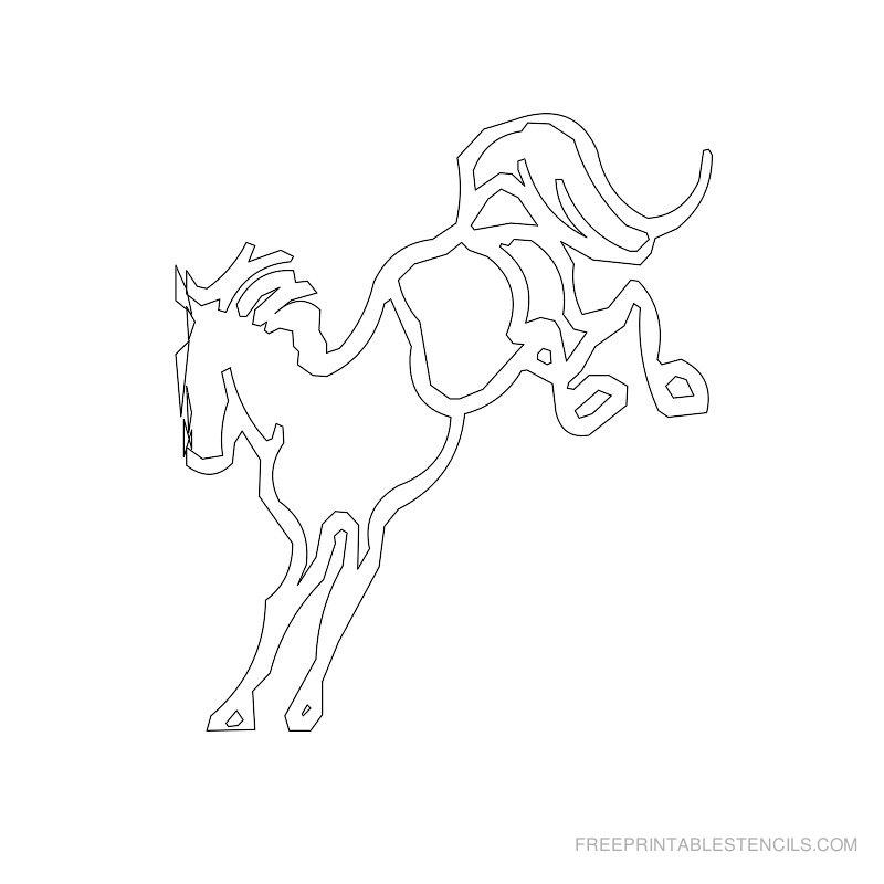 Free Printable Horse Stencil R