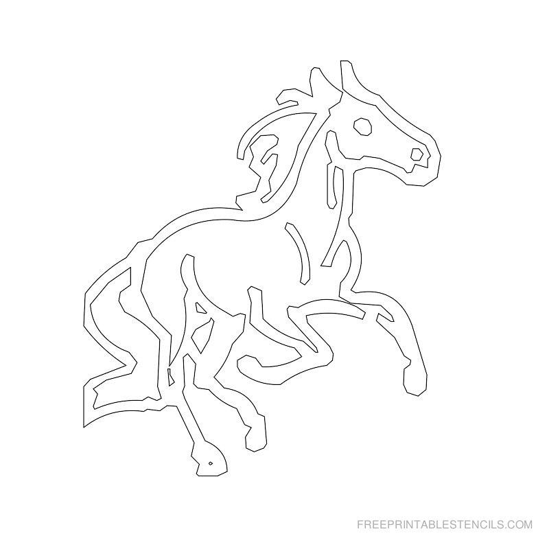 Free Printable Horse Stencil S
