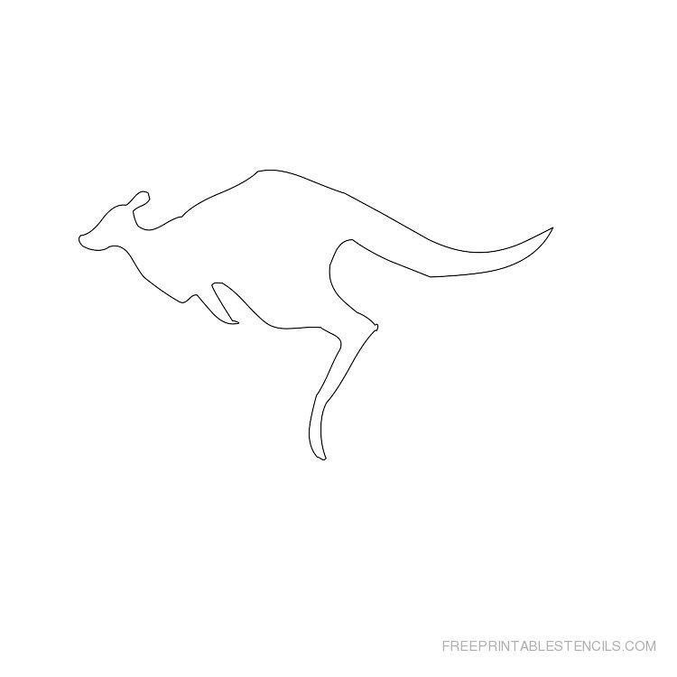Printable kangaroo stencil 3