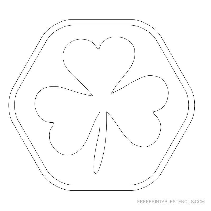 Printable leaf stencil 11
