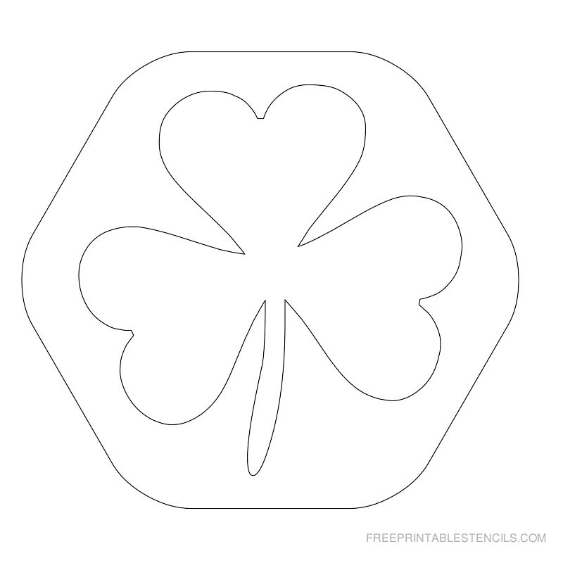 Printable leaf stencil 5