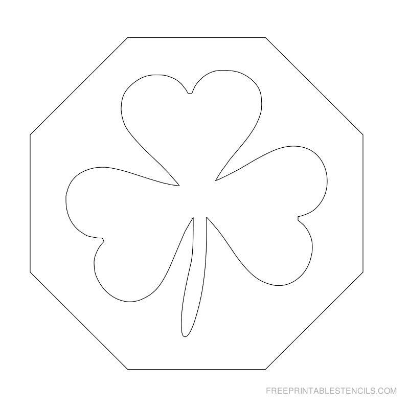 Printable leaf stencil 6