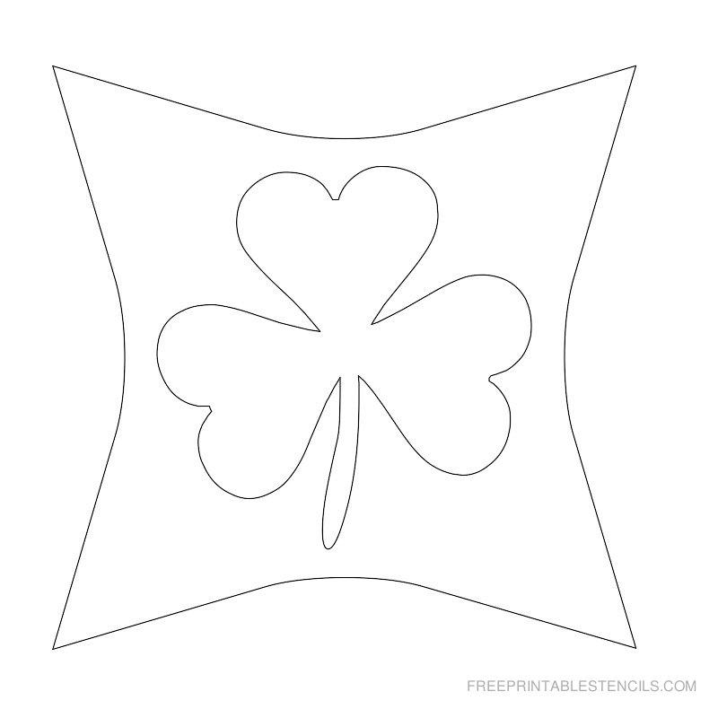 Printable leaf stencil 7