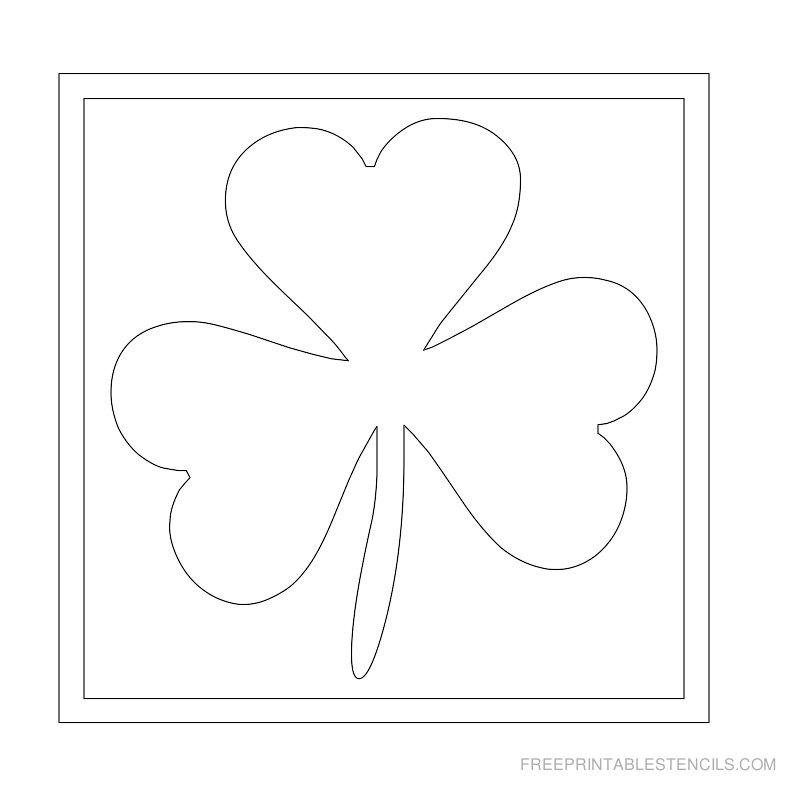 Printable leaf stencil 8