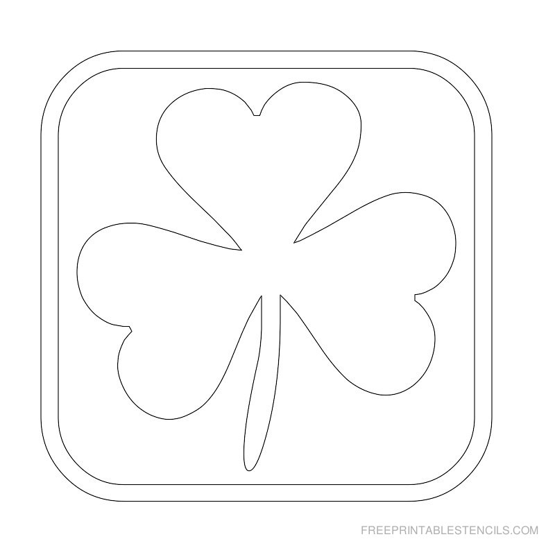 Printable leaf stencil 9