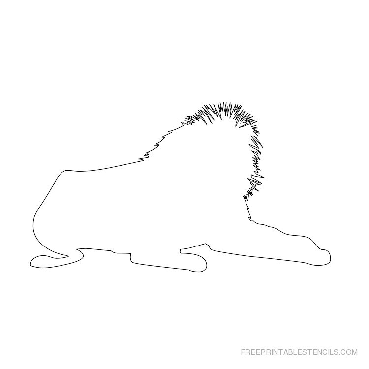 Printable lion stencil 1