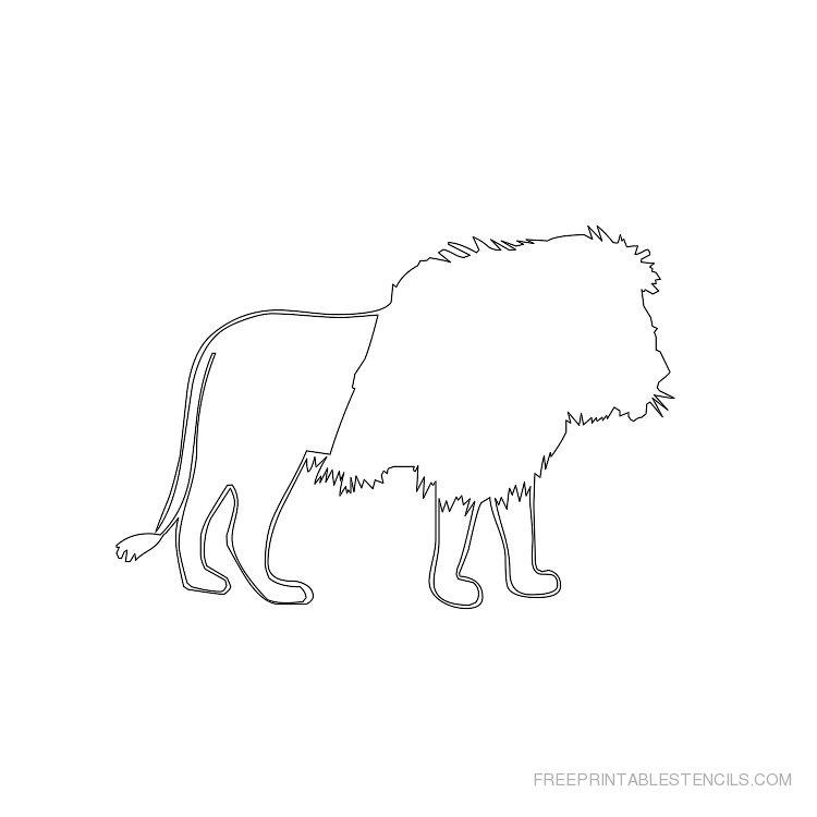 Printable lion stencil 2