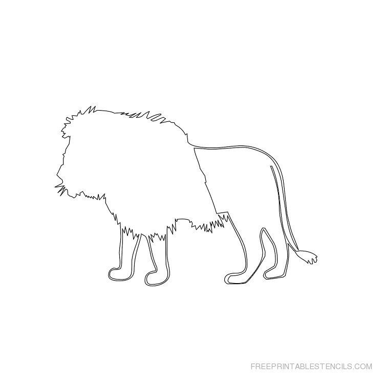 Printable lion stencil 3
