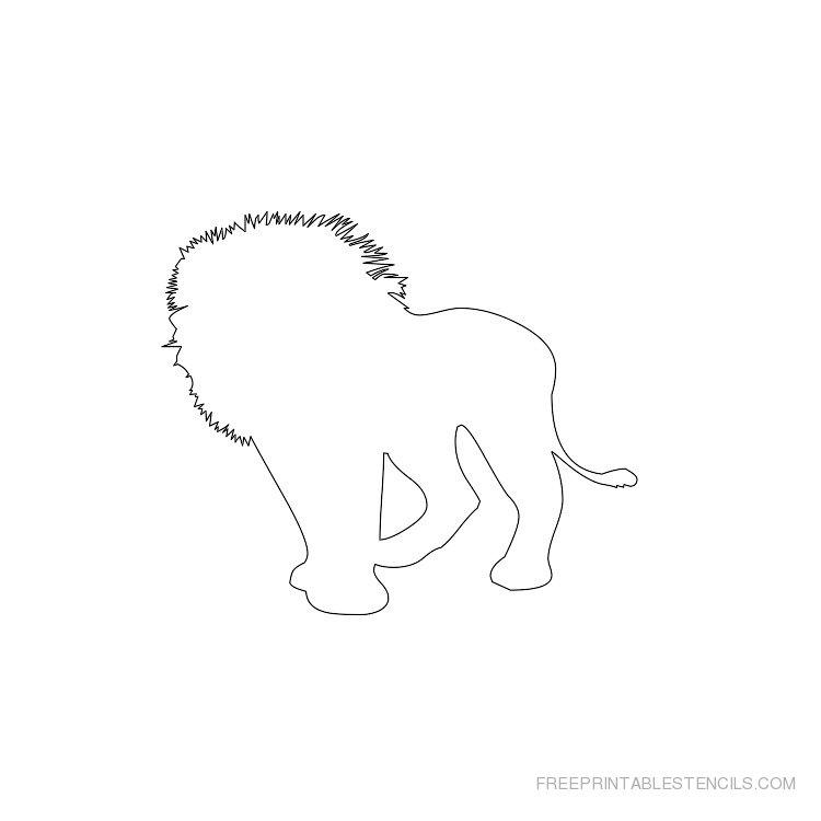 Printable lion stencil 4