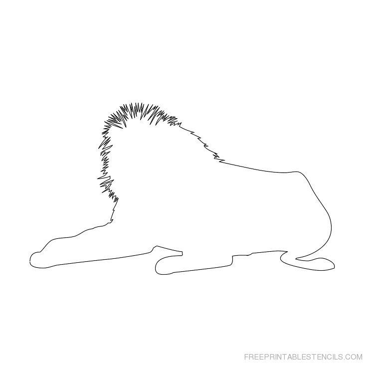 Printable lion stencil 5