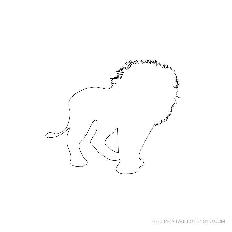 Printable lion stencil 6