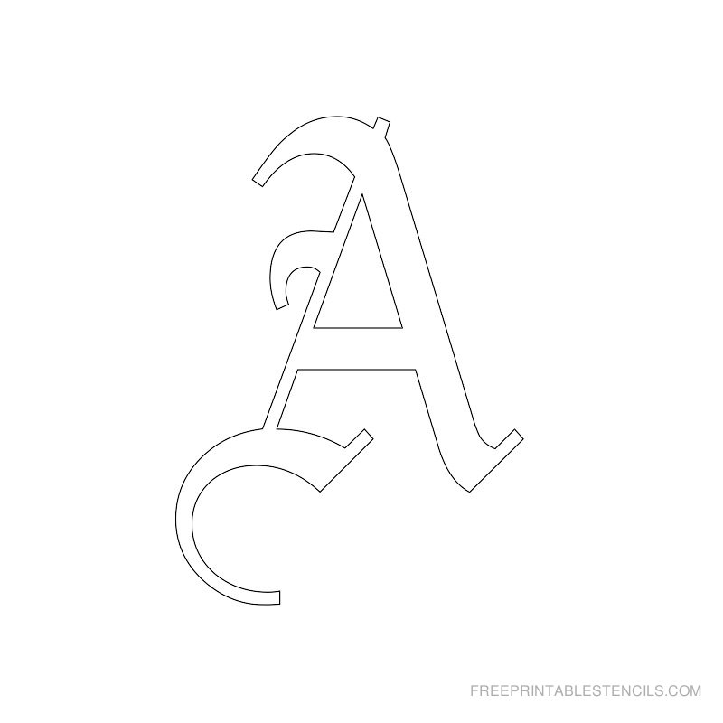 Printable Old English Alphabet Stencil A
