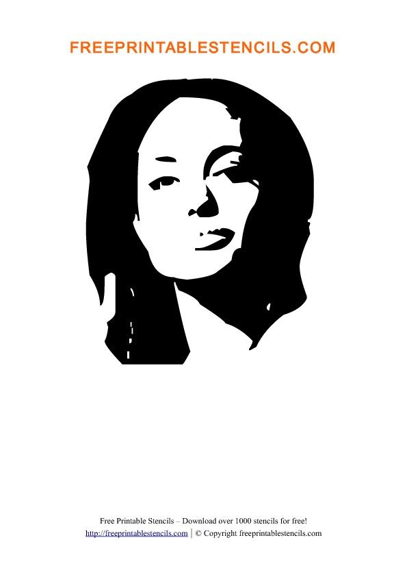 Angelina Jolie Stencil