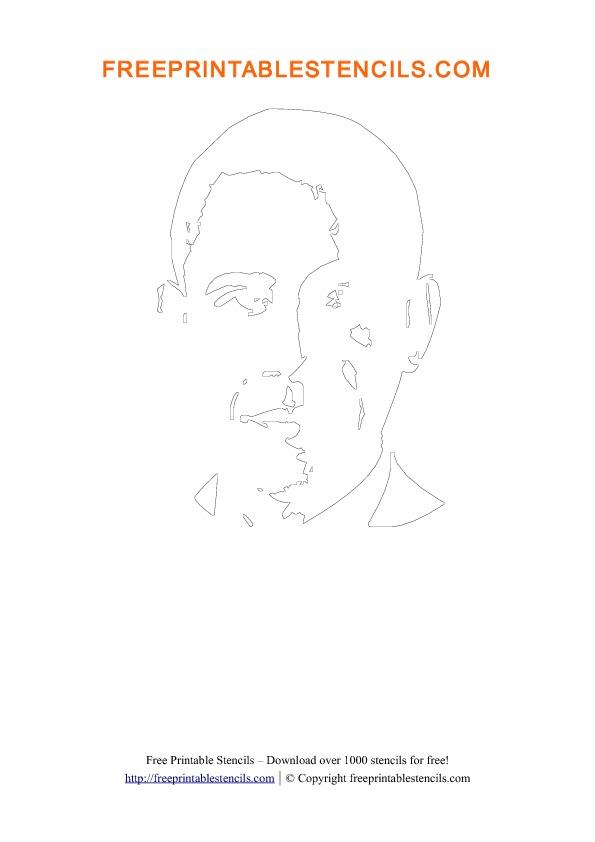Preview Barack Obama Stencil Template