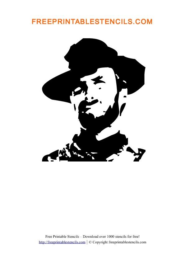 Clint Eastwood Stencil