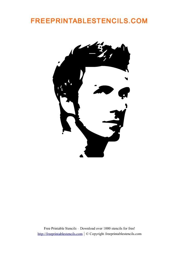 David Beckham Stencil