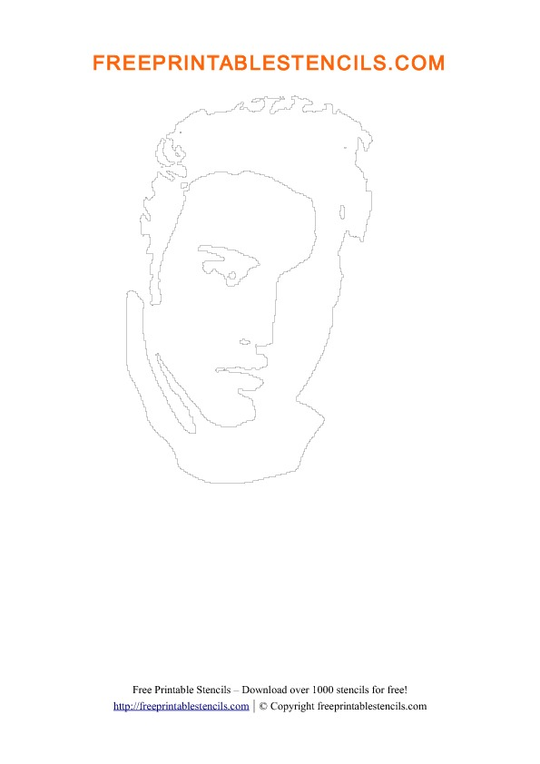 Elvis Presley Printable People Stencils