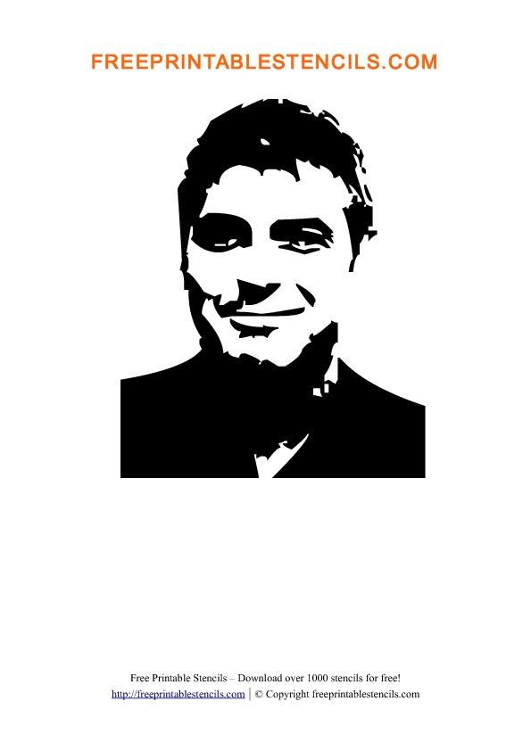 George Clooney Stencil