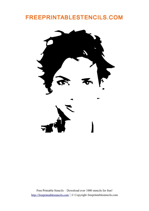Halle Berry Stencil