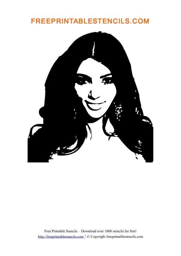 Kim Kardashian Stencil