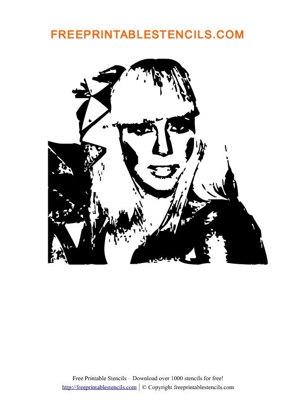 Preview Lady Gaga Stencil Template