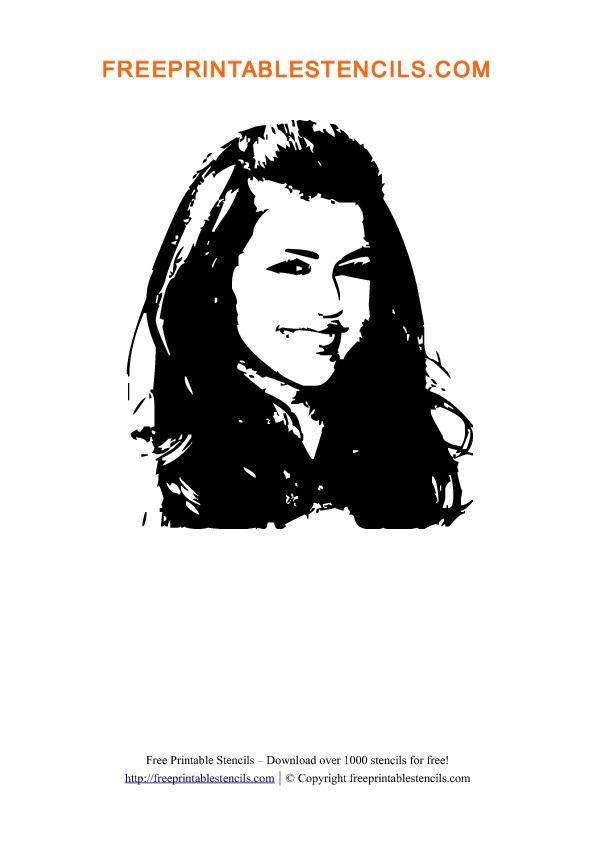 Miley Cyrus Stencil