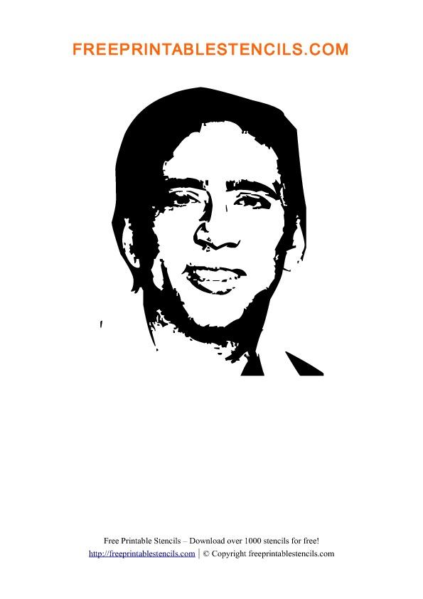 Nicolas Cage Stencil