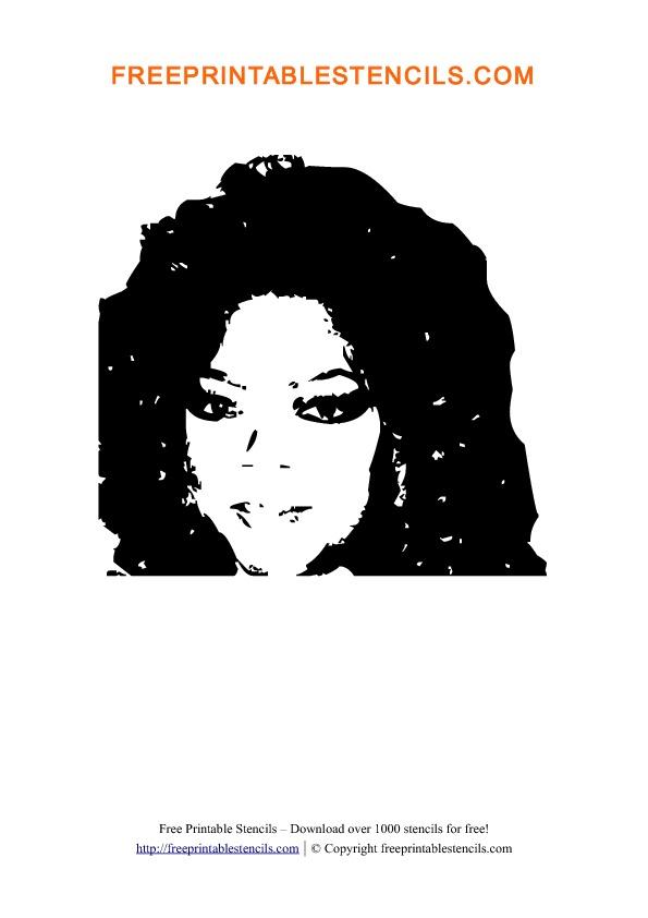 Oprah Winfrey Stencil