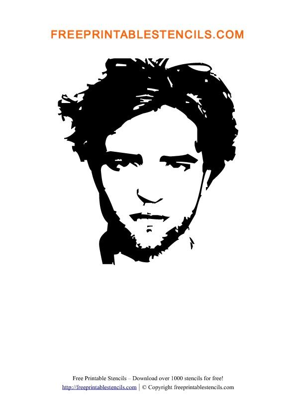 Robert Pattinson Stencil