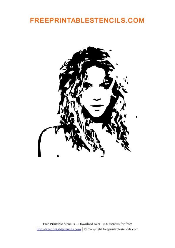 Shakira Stencil