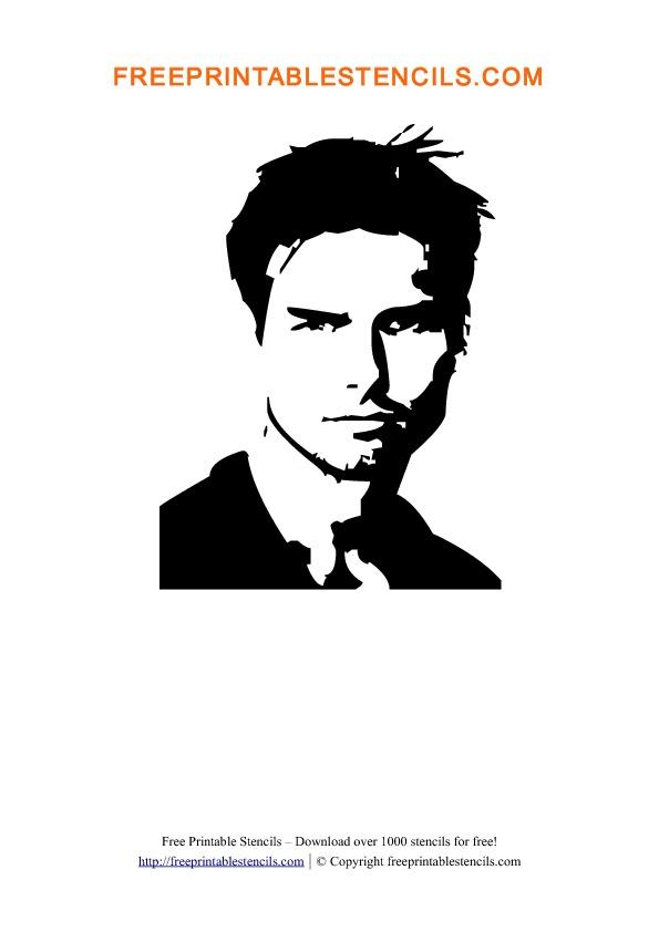 Tom Cruise Stencil