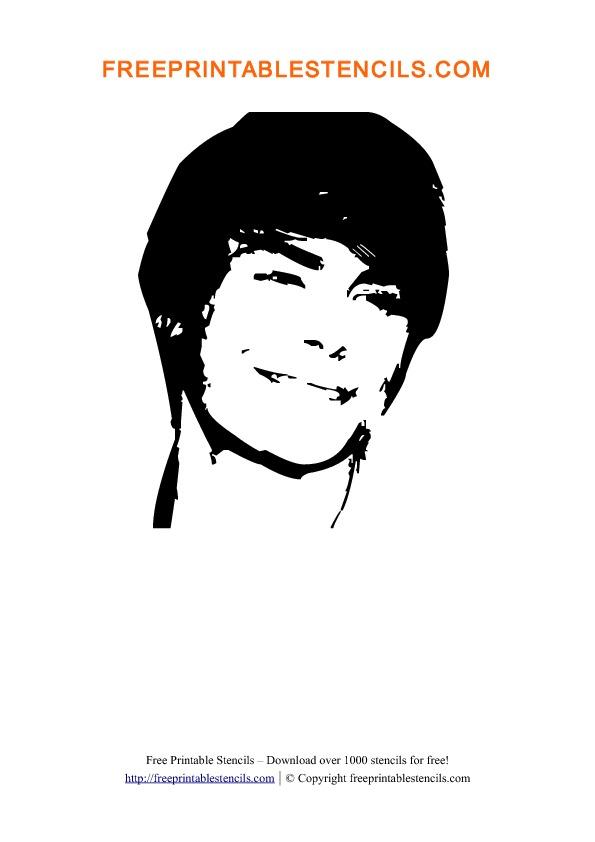 Zac Efron Stencil