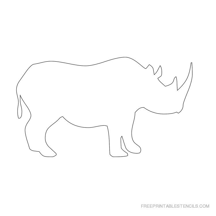 Printable rhinoceros stencils