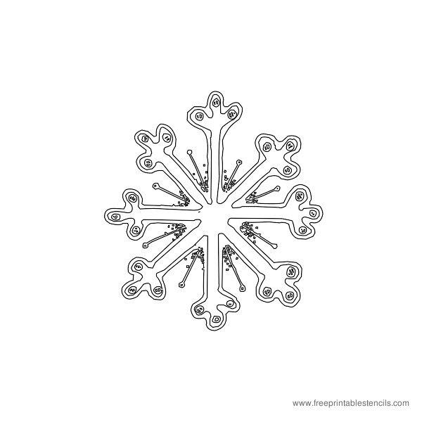Christmas Printable Stencil Snowflake