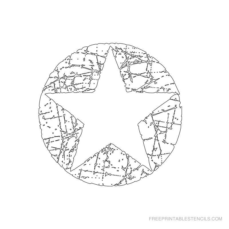 Printable star stencil 10