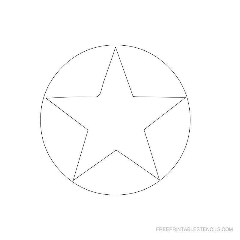 Printable star stencil 11