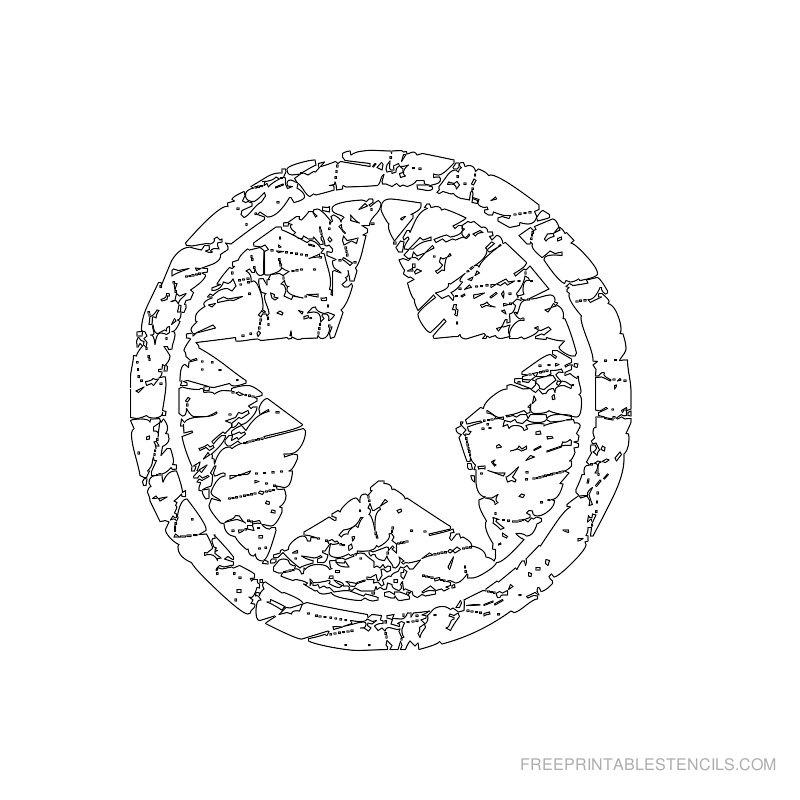 Printable star stencil 12
