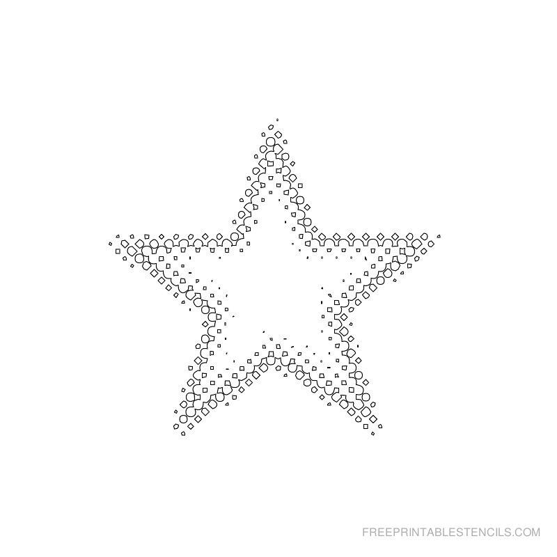 Printable star stencil 2