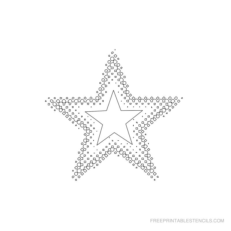 Printable star stencil 3