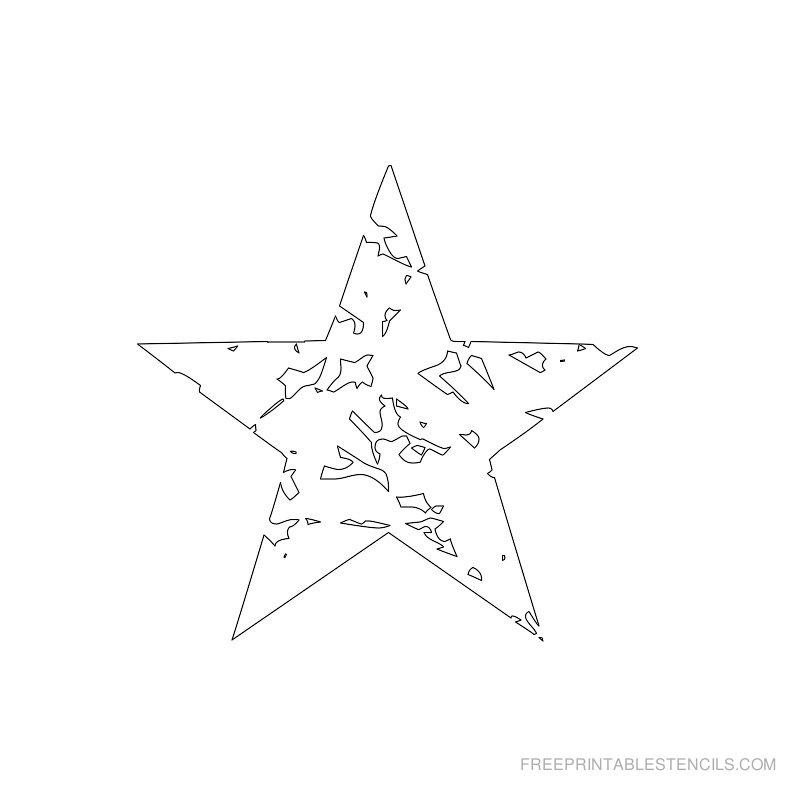 Printable star stencil 5