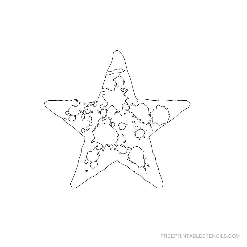 Printable star stencil 7